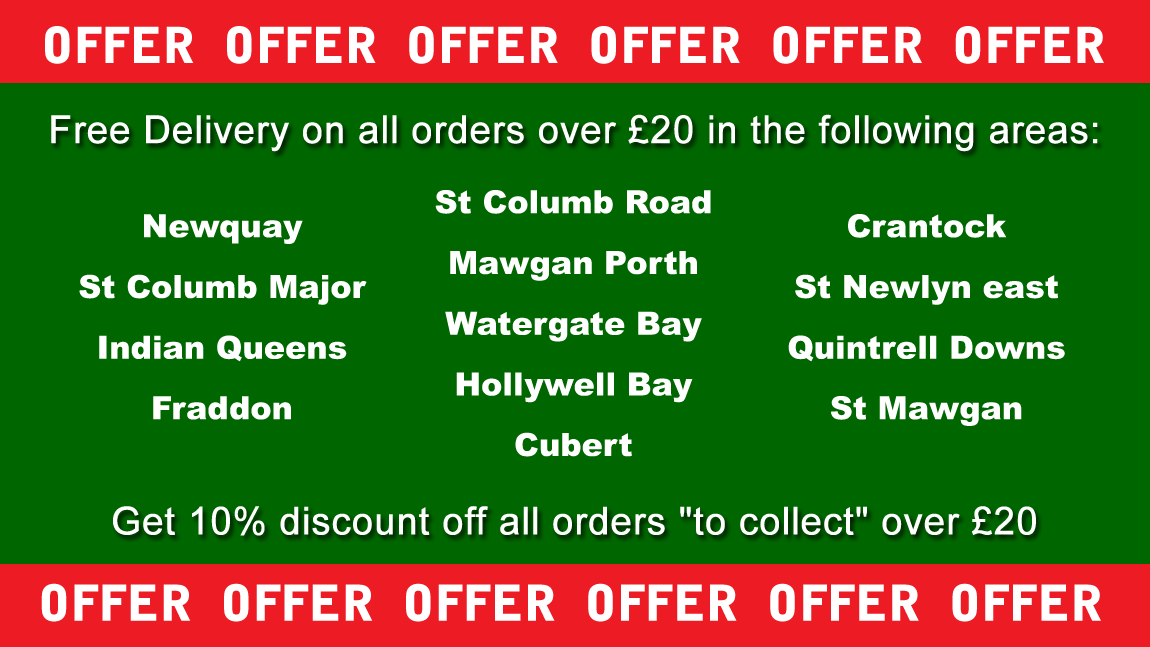 green chilli indian take away newquay cornwall special offer